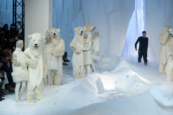 Wolves and Polar Bears Walked the Runway at Moncler