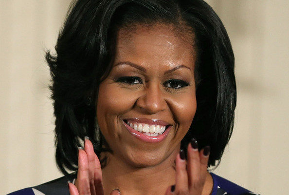 Stop Everything: Michelle Obama Got Bangs!