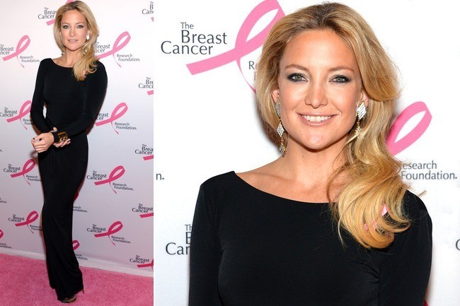 Kate Hudson's Sleek Black Gown
