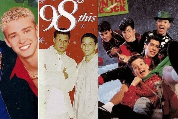Ranking Boy Band Holiday Album Covers from Least to Most Cheesy