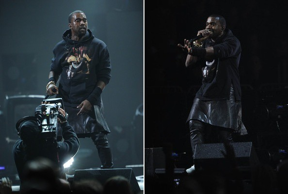 Kanye West Wore a Skirt Last Night, People Kinda Lost It