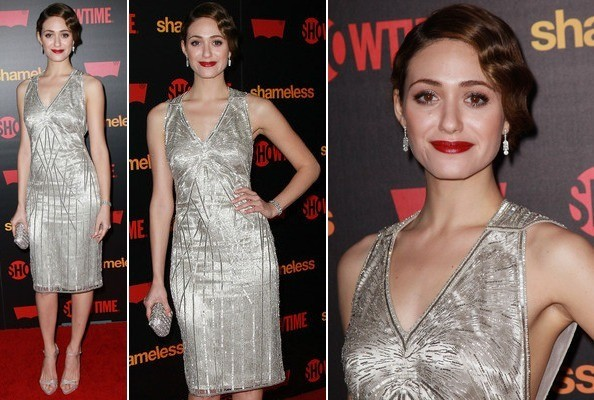 Look of the Day: Emmy Rossum Goes Flapper Glam