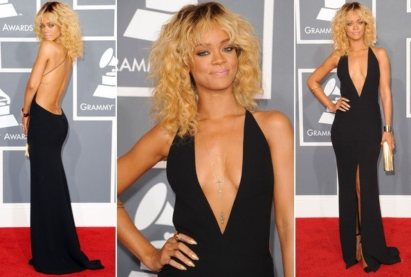 Look of the Day: Rihanna Smolders in Sultry Black