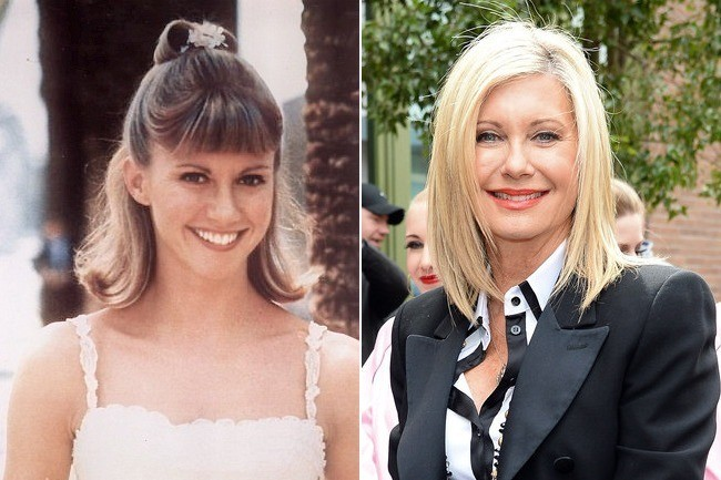 sandy olivia newtonjohn then and now the cast of