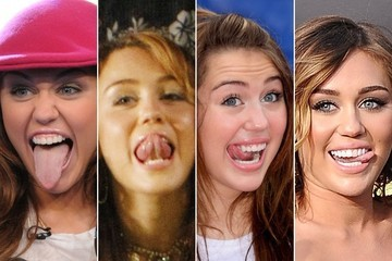 A Visual History of Miley Cyrus' Tongue
