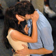 Kissing on the set of 'Breaking Dawn'