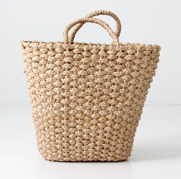 "16"" Woven Basket Tote"