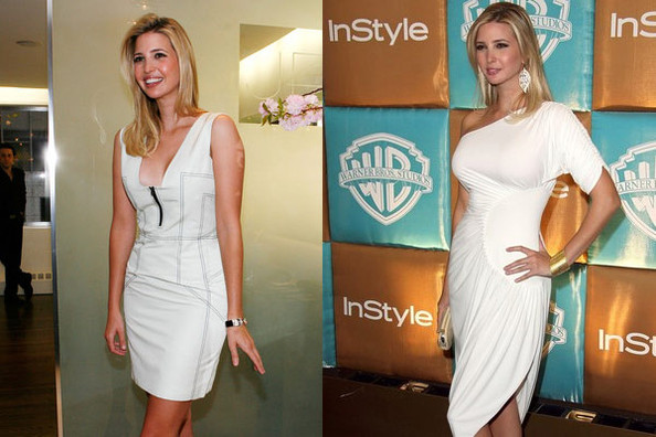 Ivanka Trump before and after breast implants? (image care of Getty Images, hosted by zimbio.com)