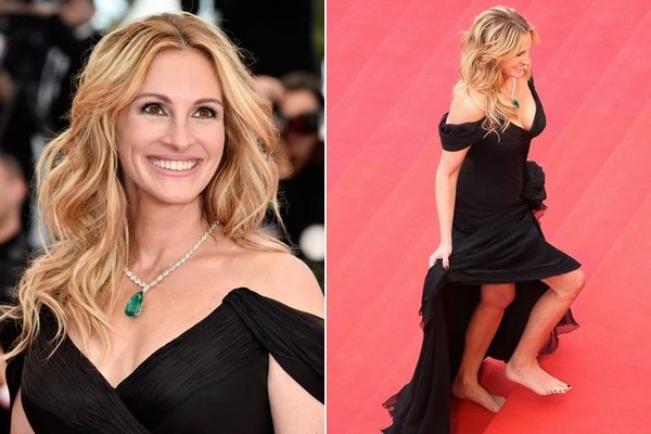 Julia roberts went barefoot down the cannes red carpet like a boss julia roberts went barefoot down the cannes red carpet like a boss voltagebd Choice Image