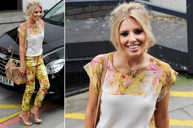 Mollie King Goes Matchy-Matchy in Chic Chartreuse Print