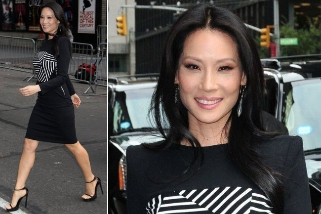 Lucy Liu's Sharp Black and White Style