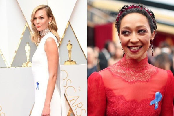 Here's Why Stars Are Rocking Blue Ribbons at the 2017 Oscars