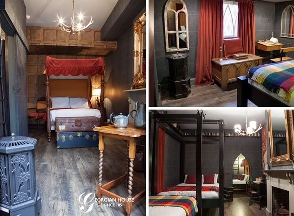 finally a london hotel has created 39 harry potter 39 themed rooms for the win zimbio. Black Bedroom Furniture Sets. Home Design Ideas
