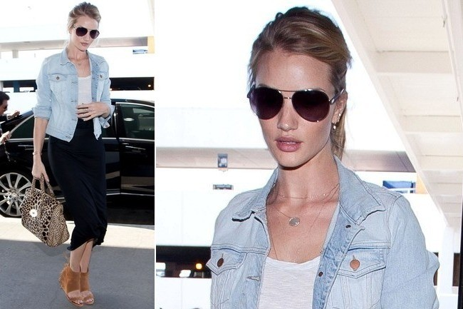 Rosie Huntington-Whiteley's Jet-Setting Style