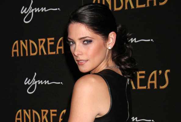 Ashley Greene's Dark Leather Look
