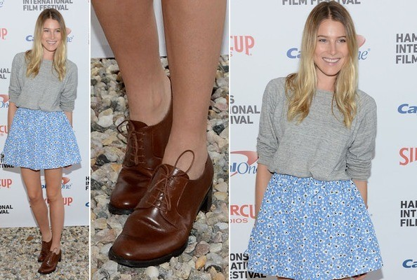 Outfit Iterations - Two Fun Ways to Accessorize Dree Hemingway's Cute Color Combo