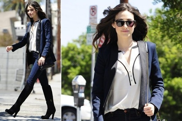 Emmy Rossum Goes Equestrian-Chic in LA