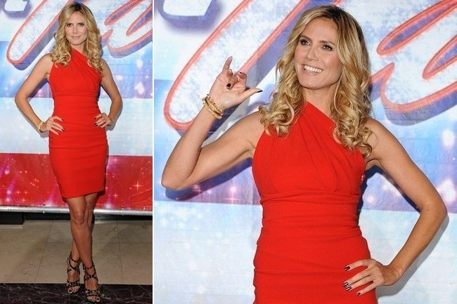 Heidi Klum's Little Red Dress