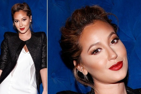 Adrienne Bailon Relies on THIS Simple Makeup Trick to Sculpt Her Stunning Face