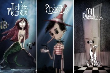 See How All Your Favorite Disney Characters Would Look If Tim Burton Had Created Them