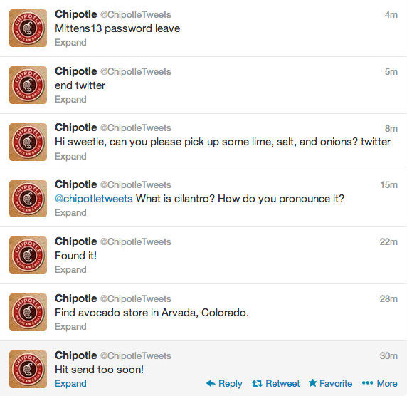 The Hacked: Chipotle - The Most Hilarious Celebrity Twitter