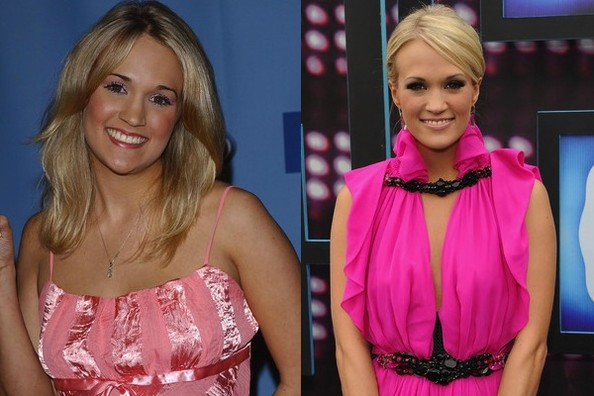 carrie underwood then and now pics
