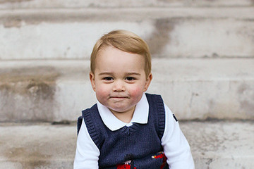 Prince George Wears a Big Smile, Festive Vest in New Pics from the Palace