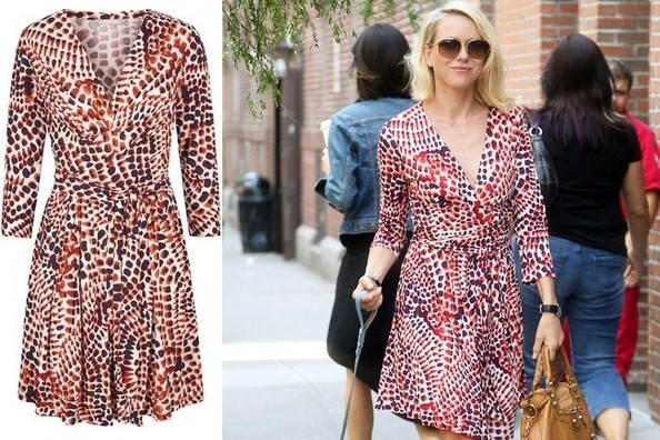 Where to Buy Naomi Watts's Ceramic-Print Wrap Dress