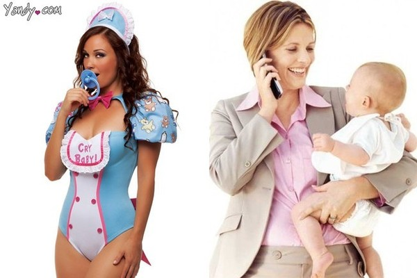 Long time Adult baby halloween costumes