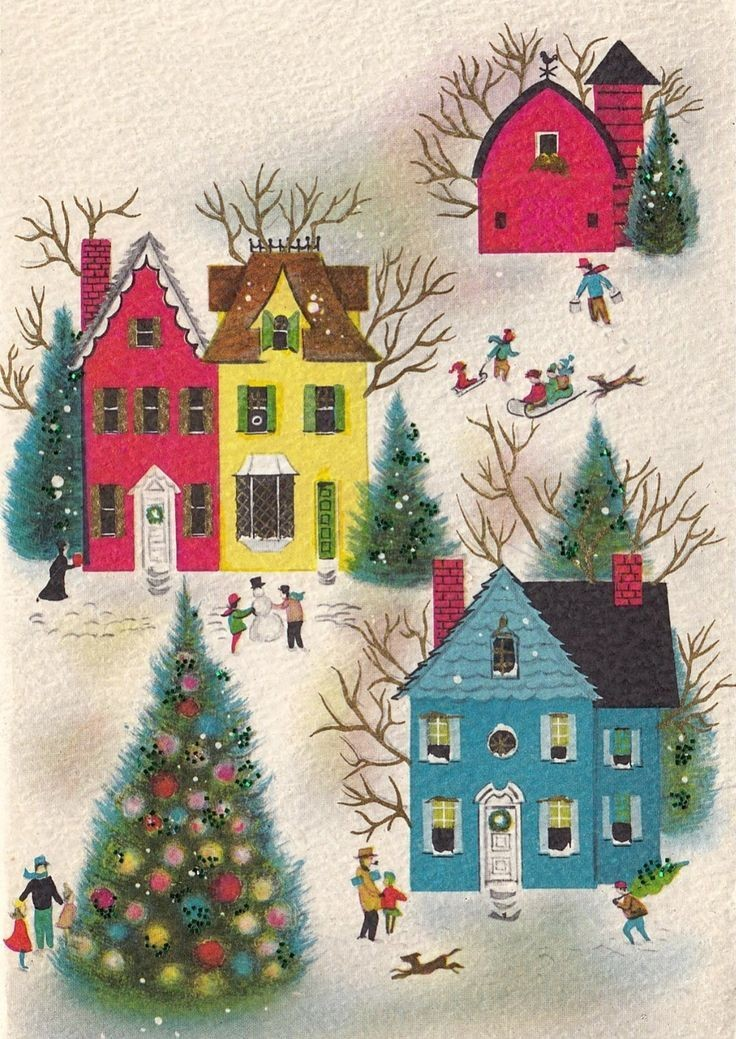 Vintage Christmas Art Is All Kinds of Magical - FTW - Livingly