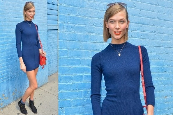 Karlie Kloss' Chic Blue Day