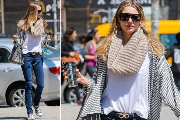 Jessica Hart's Relaxed Street Style