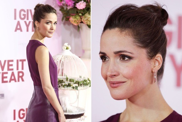 Rose Byrne's Plum Leather Dress