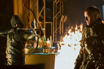 'Arrow' New Photos - Meet Oliver's Fiery New Enemy