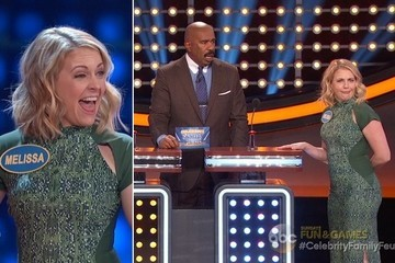 Exclusive Sneak Peek: Melissa Joan Hart Answers a Question About Granny Panties on 'Celebrity Family Feud'