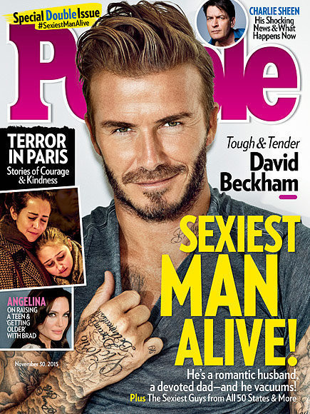 David Beckham Is People's 'Sexiest Man Alive' 2015