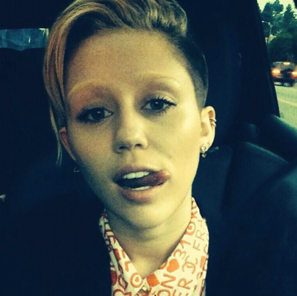 Miley Cyrus bleached her eyebrows.