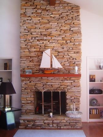 Feng Shui Living Room: With a Stone Fireplace - Living ...