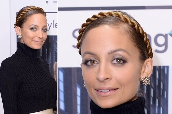 "Here&squot;s an Interesting ""Twist"" On the Milkmaid Braid, Courtesy of Nicole Richie"