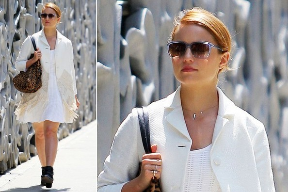 Dianna Agron Breaks the Rules in All White