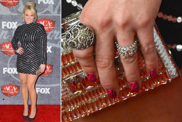 Nail Art Obsession: How to DIY Miranda Lambert's Pink Zebra-Print Mani