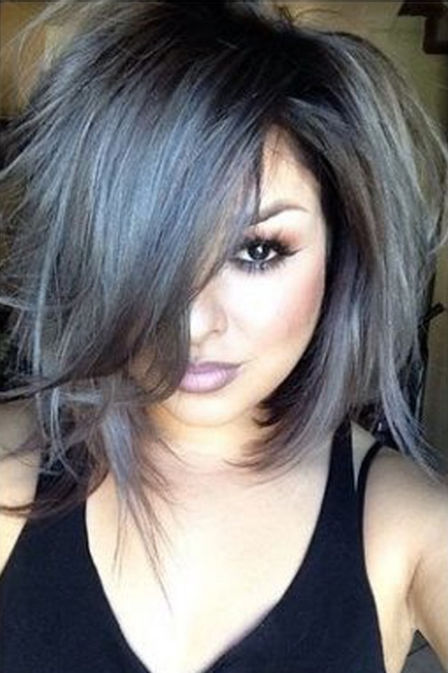 Grey Hair Looks And An Easy Tutorial That Will Have You Dying Your Hair Pront