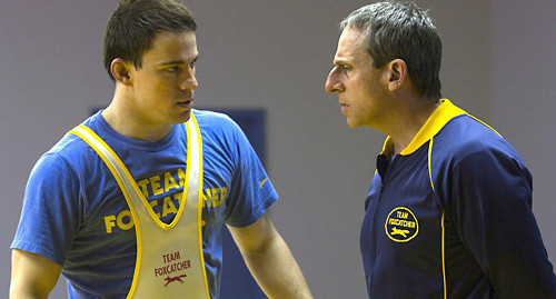 Channing Tatum and Steve Carell in 'Foxcatcher.'