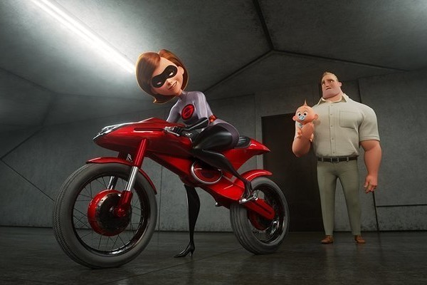 The Parr Family And Frozone Face Off Against The Underminer In 'Incredibles 2'