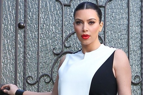 We Know EXACTLY Which Red Lipstick Kim Kardashian Is Wearing