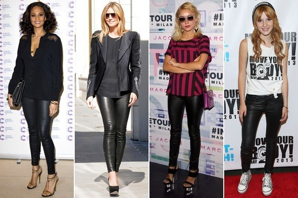 Building a Fabulous Wardrobe 101: Skinny Black Leather Pants