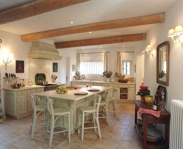 Vintage whites charming cottage style kitchens zimbio for French country decor kitchen ideas