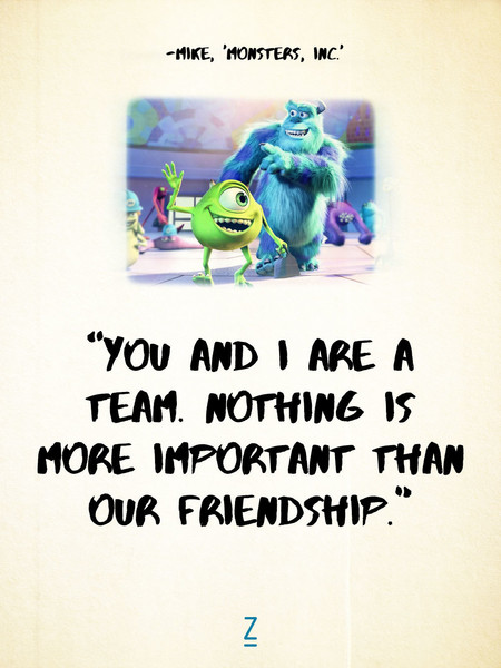 From monsters university pixar movie quotes that will make you from monsters university voltagebd Choice Image