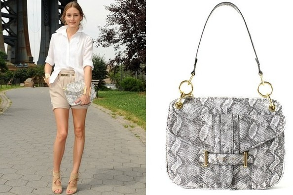 Where to Buy Olivia Palermo's Faux Snakeskin Clutch
