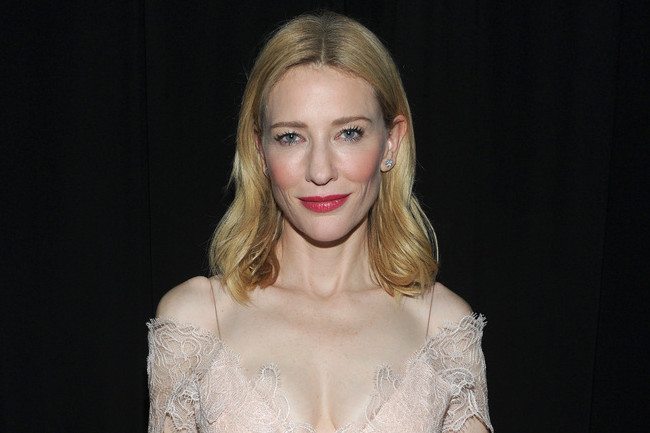 Cate Blanchett's Nude Lace and Rose Lips